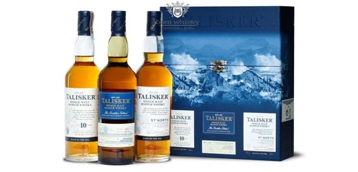 Talisker Collection (10-letni; 2001 Distillers Edition; 57º North) / 3 X 0,2l