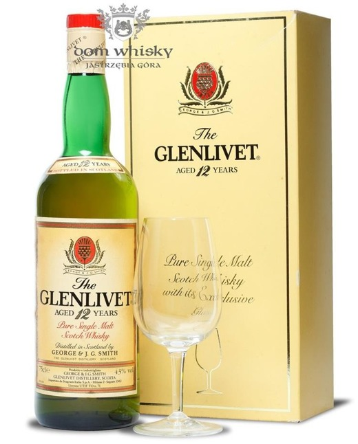 The Glenlivet 12-letni (Bottled 1980s) Kieliszek gratis / 43% / 0,75