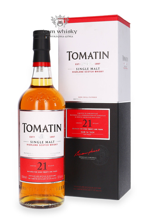 Tomatin 21-letni Limited Edition / 52% / 0,7l