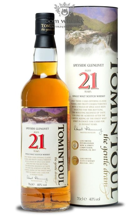 Tomintoul 21 letni The Gentle Dram / 40% / 0,7l