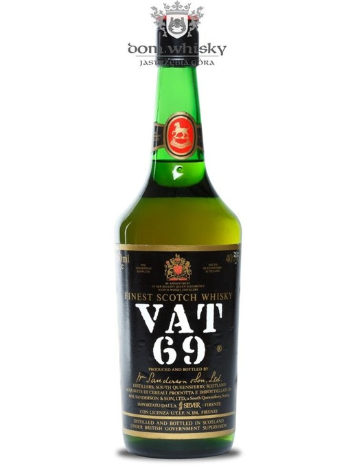 VAT 69 Finest Scotch Whisky (Bottled 1980s) / 40%/ 0,75l