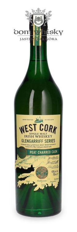 West Cork Glengarriff Peat Charred Cask / 43%/ 0,7L