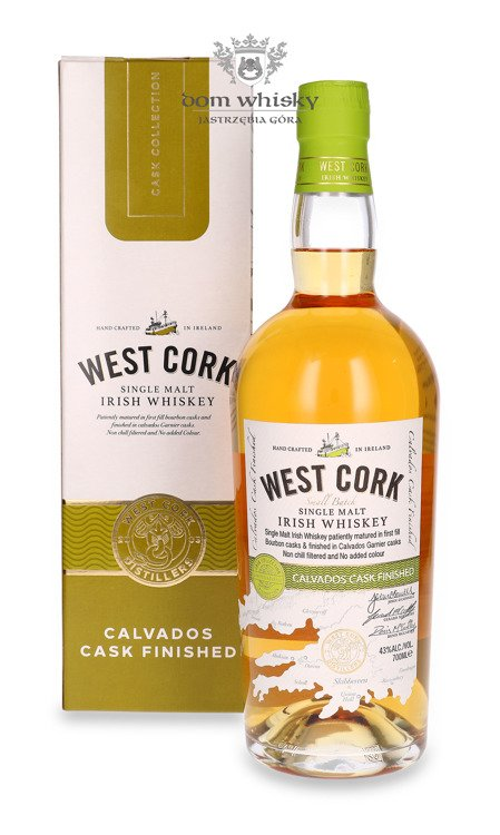 West Cork Single Malt Calvados Cask Finished /karton/ 43%/ 0,7l