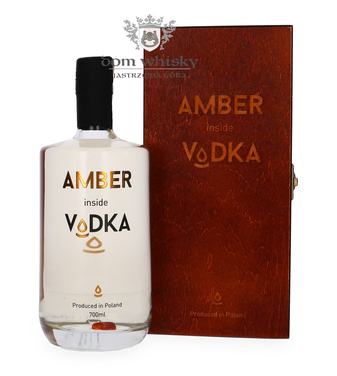 Wódka Amber Inside / Wooden box/ 40% / 0,7l
